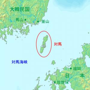 4-0 Tsushima_island_ja wiki対馬海峡より 版権フリー